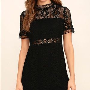 MinkPink Tell Tale Black Lace Dress